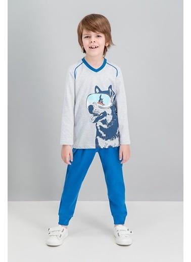 Roly Poly Rolypoly Husky Karmelanj Erkek Çocuk Pijama Takımı Gri